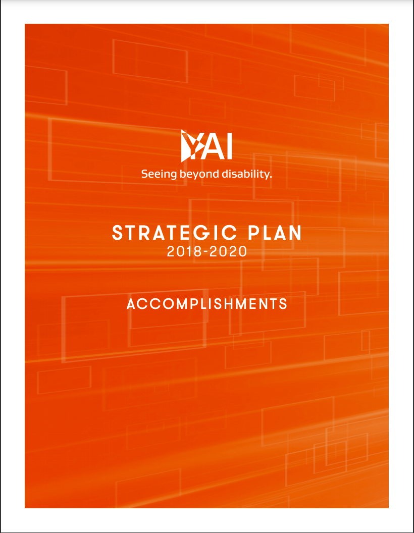 front page of YAI's Strategic Plan