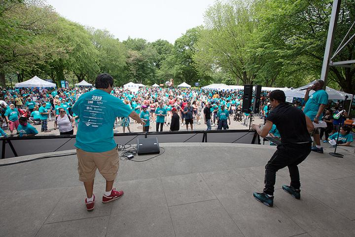 Breakdancing battle at the Central Park Challenge
