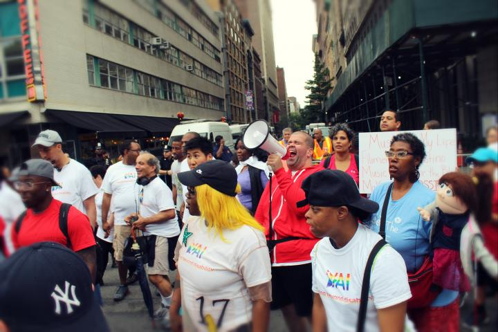 A group of people from YAI at the disability pride parade