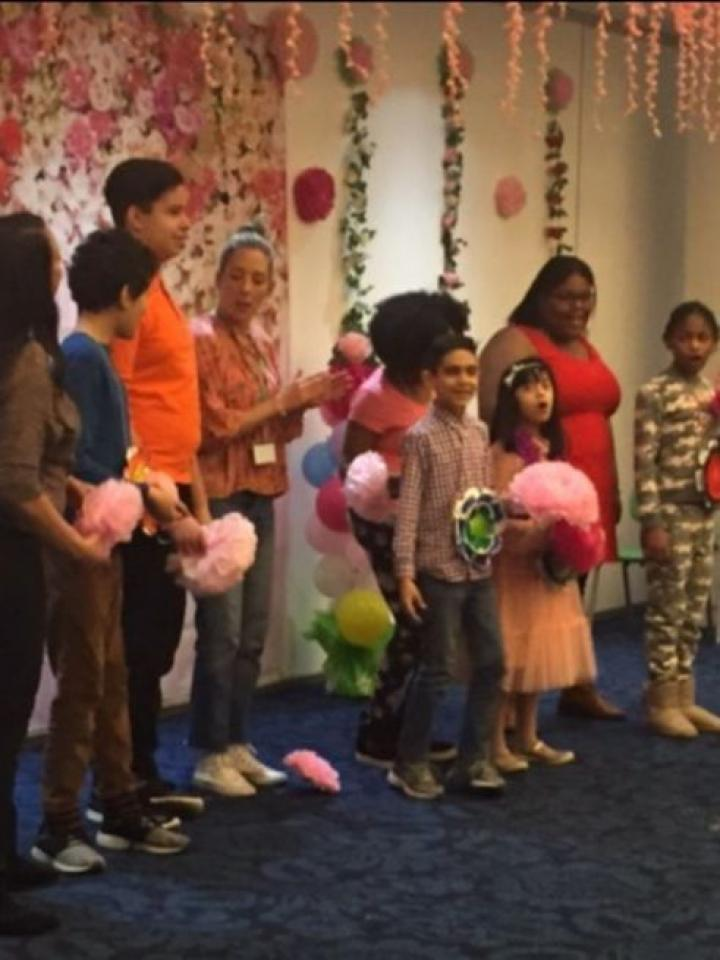 MSA Welcomes Spring children and adults dancing